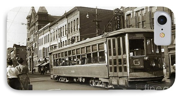 Georgetown Trolley E Market St Wilkes Barre Pa By City Hall Mid 1900s IPhone Case