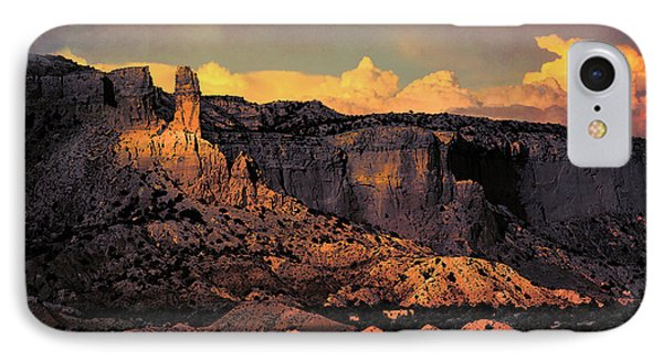 Georgia O Keefes Ghost Ranch House - Last Moments Of Sun IPhone Case