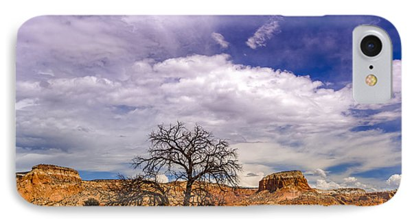 Georgia O'keefe's Tree Caught Between Kitchen And Matrimonial Mesa - Ghost Ranch Abiquiu New Mexico IPhone Case
