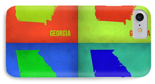 Georgia Pop Art Map 1 Phone Case by Naxart Studio