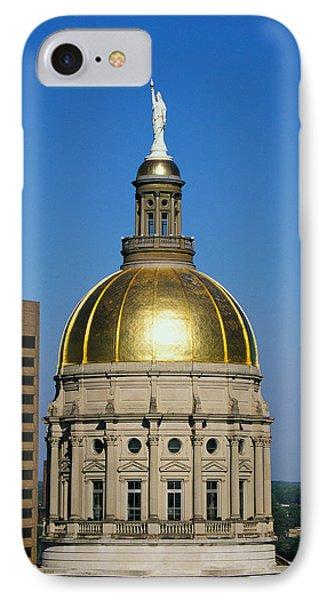 Georgia State Capitol Dome Atlanta Ga IPhone Case by Panoramic Images