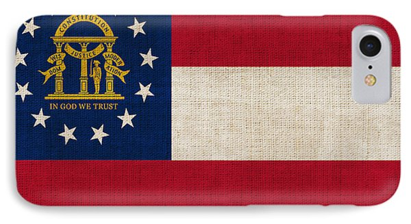 Georgia State Flag IPhone Case by Pixel Chimp