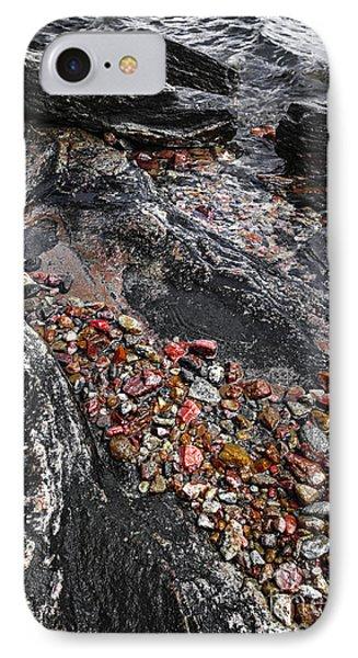 Georgian Bay Rocks Abstract I IPhone Case by Elena Elisseeva