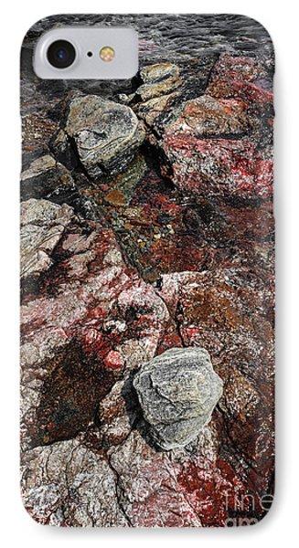 Georgian Bay Rocks Abstract II IPhone Case by Elena Elisseeva