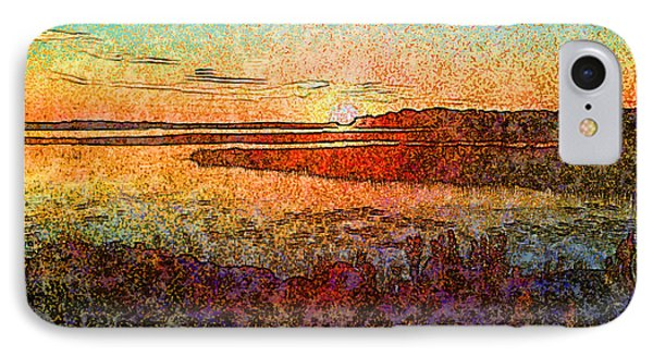 Georgian Bay Sunset IPhone Case by Claire Bull