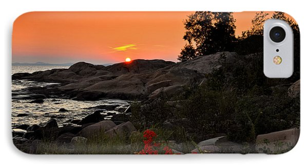Georgian Bay Sunset IPhone Case by Les Palenik