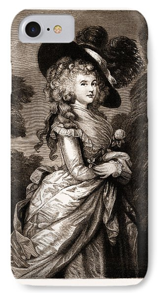 Georgiana, Duchess Of Devonshire The Gainsborough Portrait IPhone Case by Litz Collection