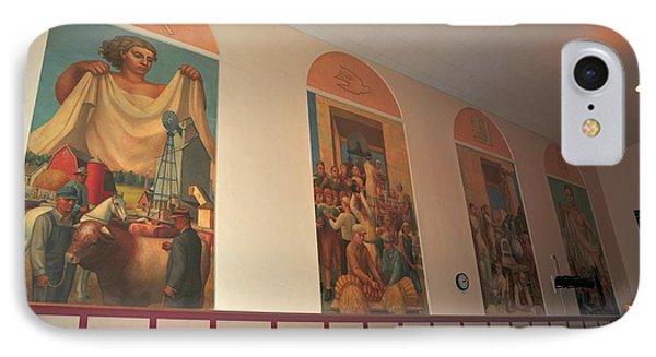 Gerald Mast Murals In Clare Michigan IPhone Case by Terri Gostola