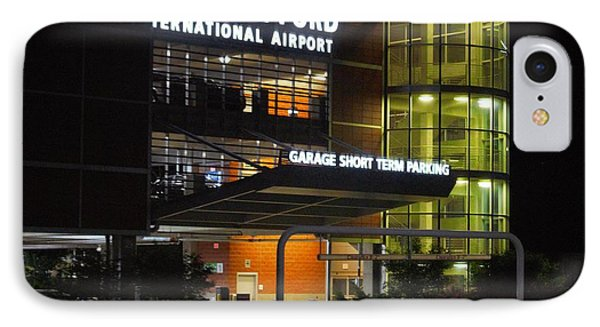 Gerald R Ford Airport In The Black Of Night IPhone Case by Rosemarie E Seppala