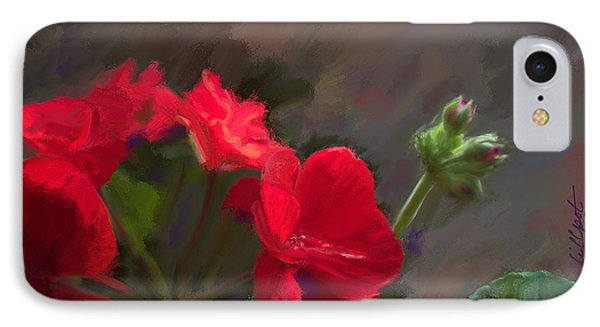 Geranium In Red IPhone Case