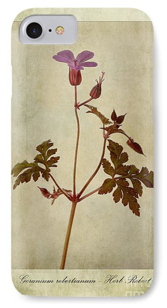 Geranium Robertianum IPhone Case
