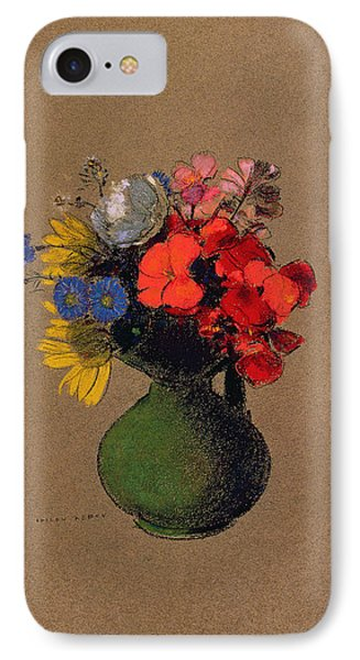 Geraniums And Flowers Of The Field IPhone Case by Odilon Redon
