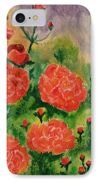 IPhone Case featuring the painting Geraniums by Christy Saunders Church