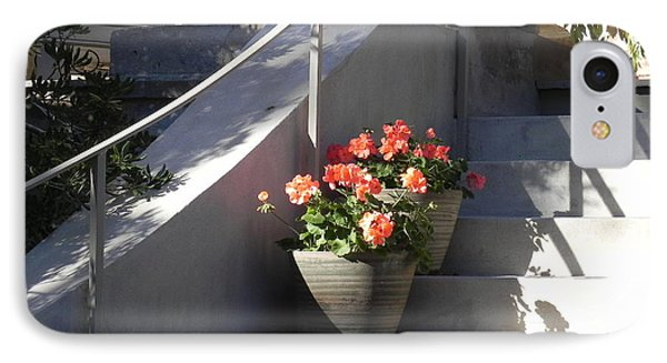 IPhone Case featuring the photograph Geraniums Look Better In Beaufort by Patricia Greer