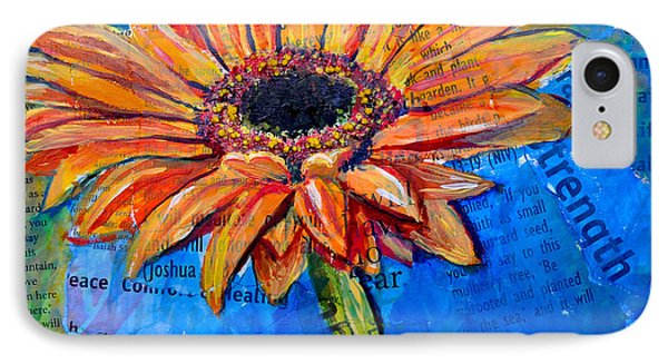 IPhone Case featuring the painting Gerbera Daisy Love by Lisa Fiedler Jaworski