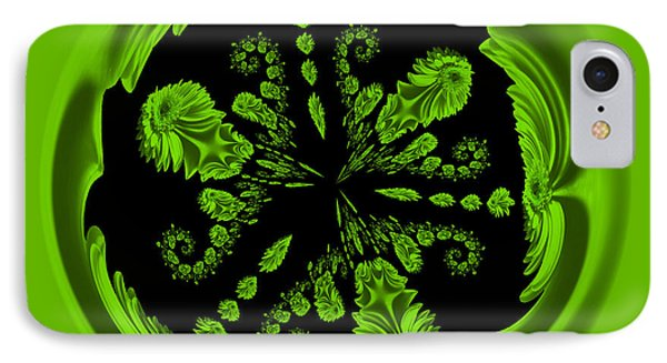 Gerbia Daisy Digitized Orb IPhone Case by Bill Barber