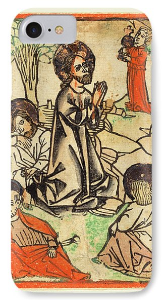 German 15th Century, Christ On The Mount Of Olives IPhone Case by Litz Collection
