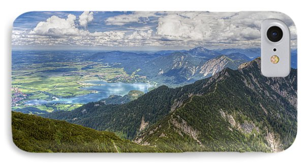 IPhone Case featuring the photograph German Alps View I by Juergen Klust
