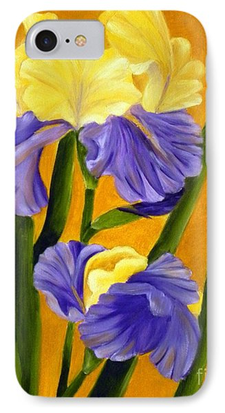 IPhone Case featuring the painting German Bearded Iris  by Shelia Kempf