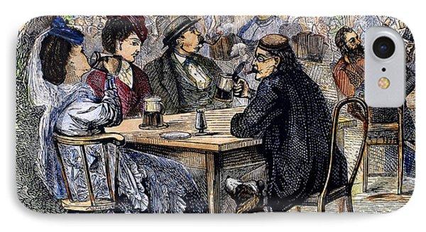 German Beer Garden, 1870 Phone Case by Granger