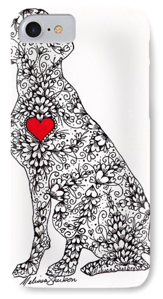 IPhone Case featuring the drawing German Pointer by Melissa Sherbon
