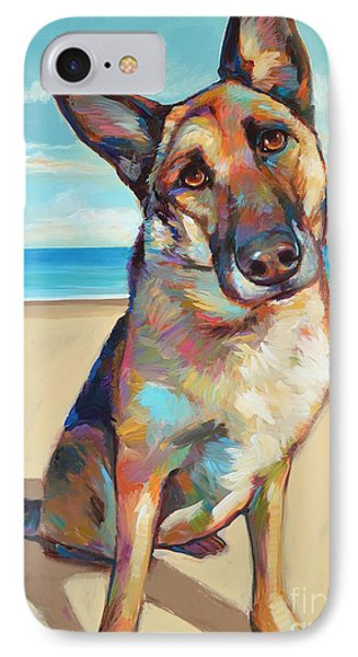 IPhone Case featuring the painting German Shepard  by Robert Phelps