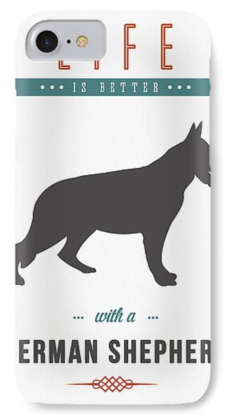 German Shepherd 01 IPhone Case by Aged Pixel