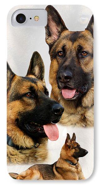 German Shepherd Collage Phone Case by Sandy Keeton