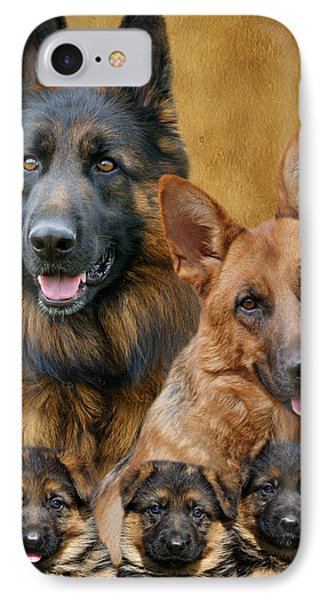 German Shepherd Family Collage Phone Case by Sandy Keeton