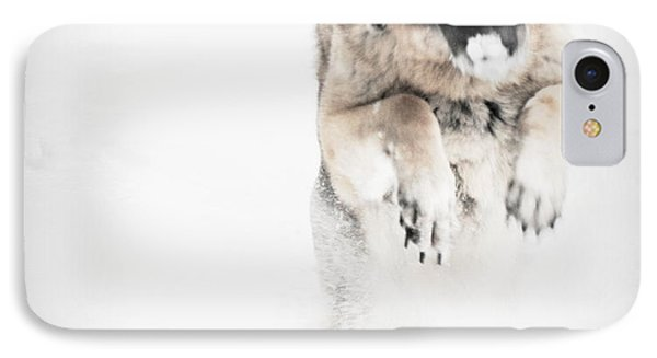 German Shepherd In The Snow IPhone Case by Tanya  Searcy