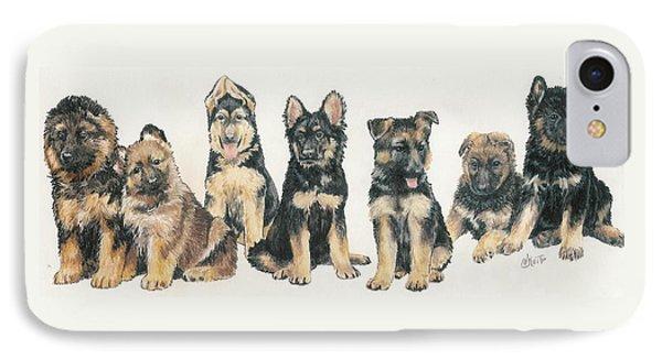 German Shepherd Puppies Phone Case by Barbara Keith
