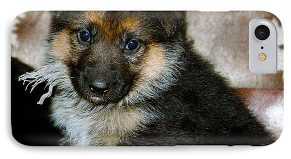 German Shepherd Puppy IPhone Case by Karon Melillo DeVega