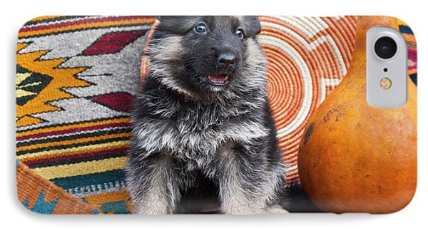 German Shepherd Puppy Sitting IPhone Case by Zandria Muench Beraldo