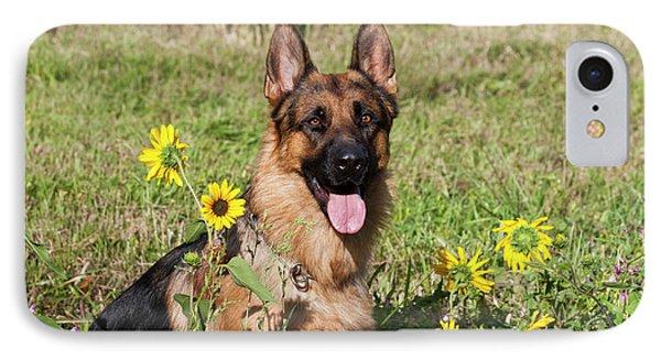 German Shepherd Sitting IPhone Case