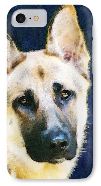 German Shepherd - Soul Phone Case by Sharon Cummings