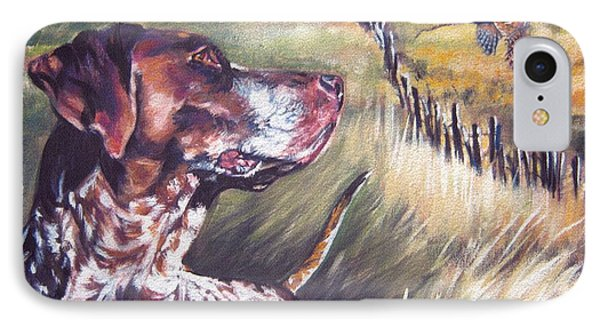 German Shorthaired Pointer And Pheasants IPhone Case by Lee Ann Shepard