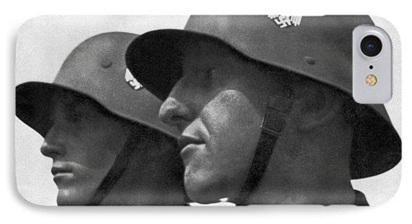 German Soldiers Portrait IPhone Case by Underwood Archives