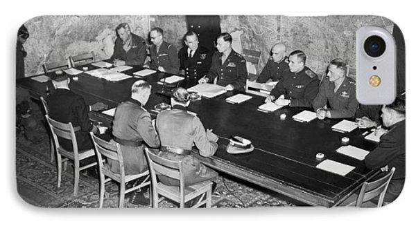 German Surrender Ceremony IPhone Case