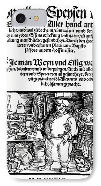Germany Cookbook, 1536 IPhone Case by Granger