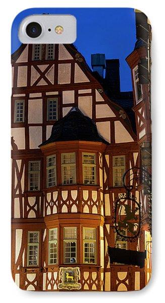 Germany, Hesse, Limburg An Der Lahn IPhone Case by Walter Bibikow