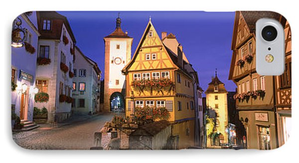 Germany, Rothenburg Ob Der Tauber IPhone Case by Panoramic Images