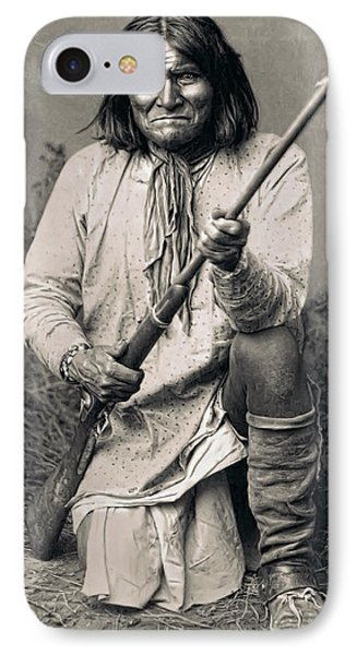Geronimo - 1886 IPhone Case by Daniel Hagerman