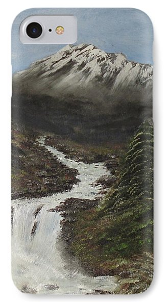 IPhone Case featuring the painting Gerri's Mountain by J L Zarek