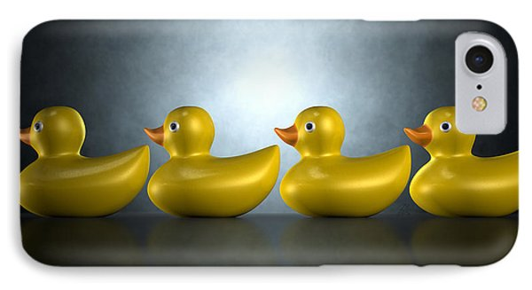 Get Your Ducks In A Row IPhone Case by Allan Swart