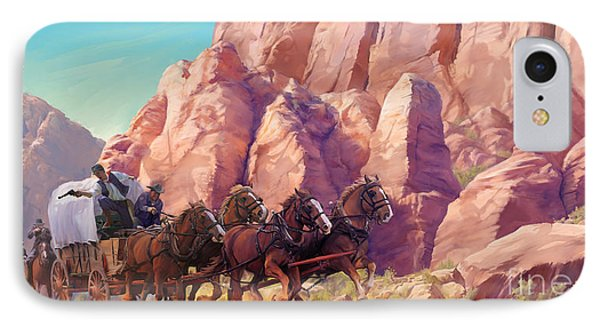 IPhone Case featuring the painting Gett'en Through by Rob Corsetti