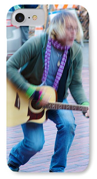 IPhone Case featuring the photograph Gettin Down - Street Musician In Seattle by Jane Eleanor Nicholas