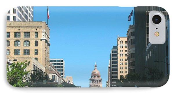 Getting Around In Austin Texas IPhone Case by Connie Fox