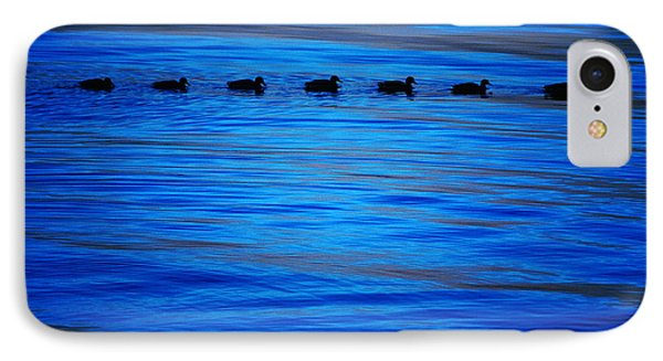 Getting Your Ducks In A Row IPhone Case by Cynthia Lagoudakis