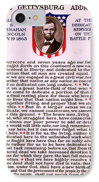 Gettysburg Address By Abraham Lincoln  IPhone Case by M T Sheahan