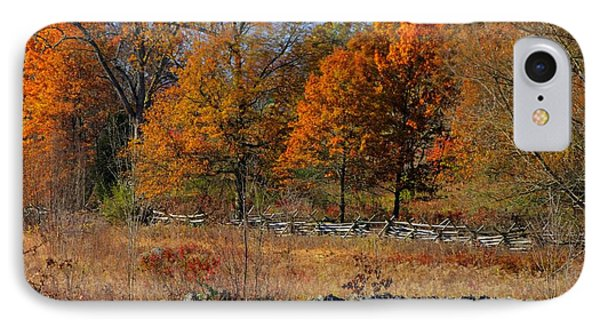 IPhone Case featuring the photograph Gettysburg At Rest - Autumn Looking Towards The J. Weikert Farm by Michael Mazaika